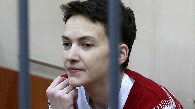 Надія Савченко під час суду привітала Кольченка з уродинами