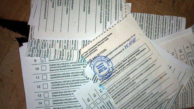 Під львівським пунктом прийому макулатури знайшли виборчі бюлетені