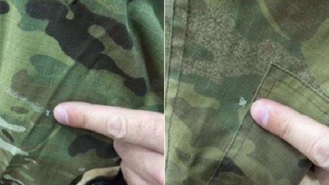 У суді показали продірявлений кулею камуфляж Надії Савченко