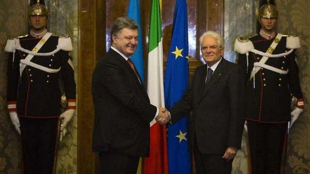 Президенти України та Італії домовилися про спільні тренування правоохоронців