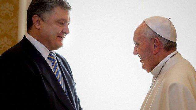 Порошенко розповів про зустріч із Папою Римським