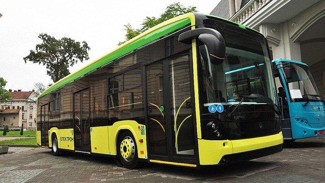 Після Різдва на маршрути Львова виїдуть нові автобуси «Електрон»