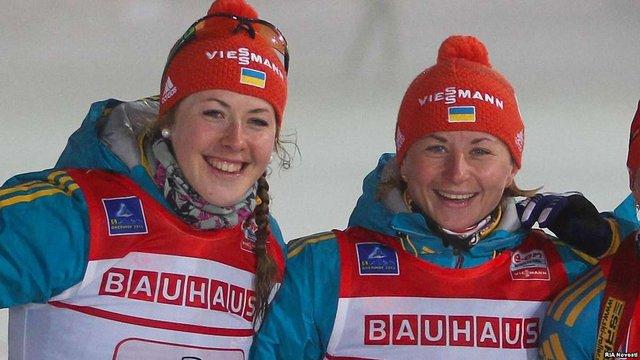 Українські біатлоністки завоювали бронзу в естафеті