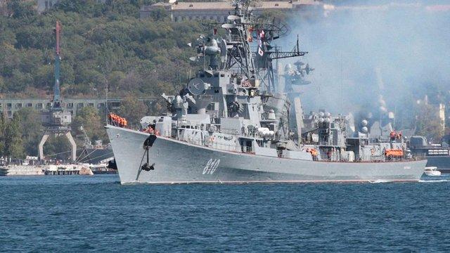 Російський військовий корабель обстріляв турецьке судно в Егейському морі