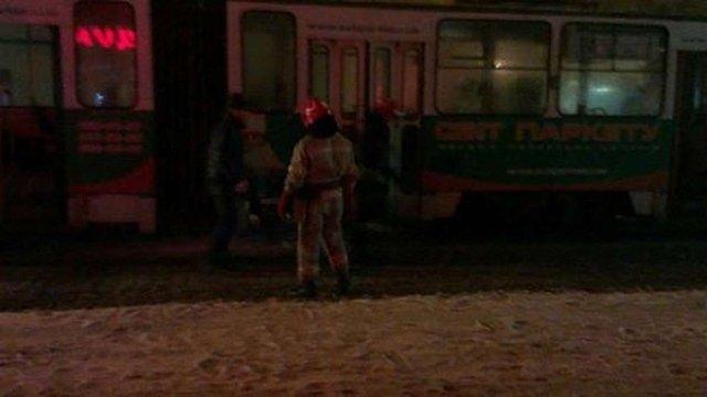 У львівському трамваї виникла пожежа