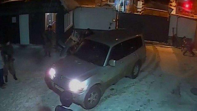 З'явилося відео нападу на базу ВМС в Одесі