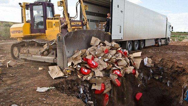 У Росії вже знищили понад 2,5 тис. тонн санкційних продуктів