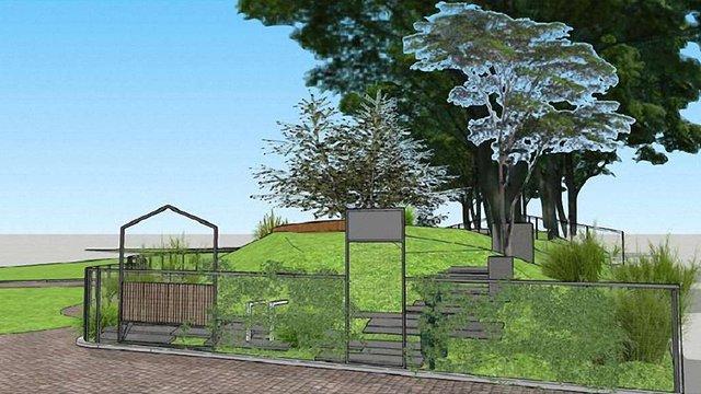 У парку ім. І.Франка почали облаштовувати майданчик для вигулу собак