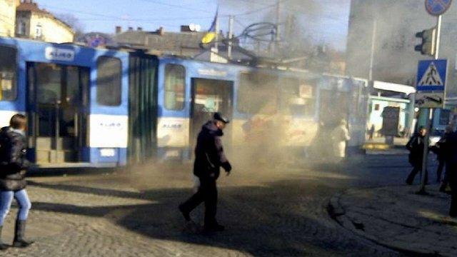 У Львові на Личаківській задимівся трамвай №7