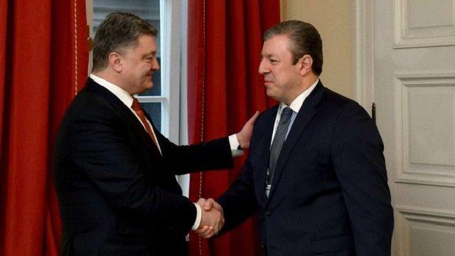 Порошенко та прем'єр Грузії обговорили перспективи розвитку нового «шовкового шляху»