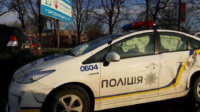 Патрульні поліцейські спричинили у Львові ДТП