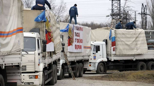 Гуманітарний конвой Путіна вторгся на територію України