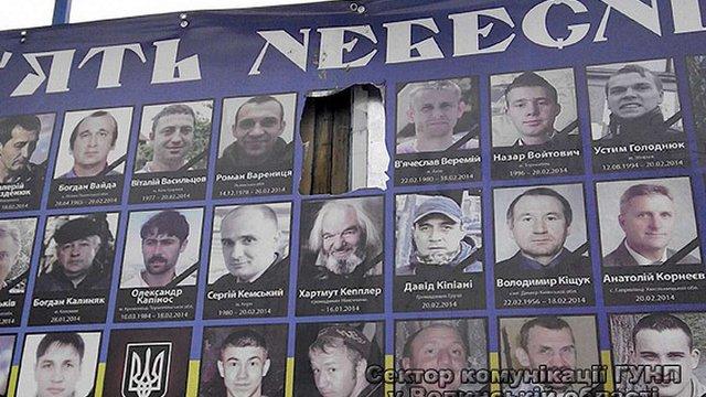 Мешканка Нововолинська вирізала фото Вербицького з банера пам'яті Небесної сотні