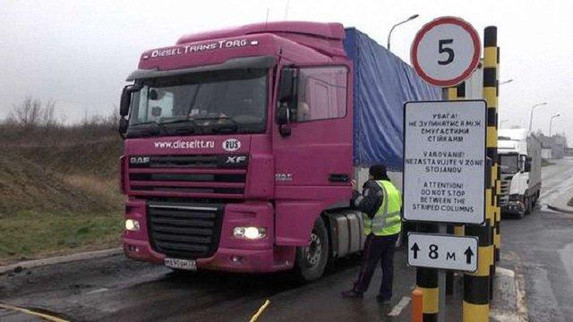 Російські вантажівки виїхали із Закарпаття