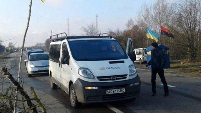«Свобода» блокує проїзд російських вантажівок у чотирьох областях України