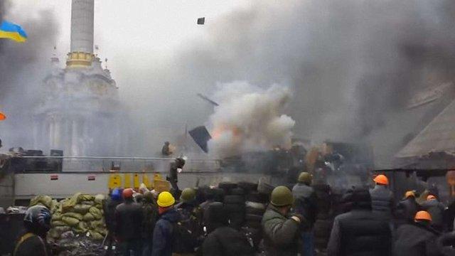 У мережі з'явилося раніше неопубліковане відео потужного вибуху на Майдані