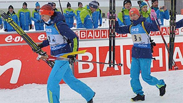 Українські біатлоністи зупинились за крок до подіуму у дебютній гонці чемпіонату світу