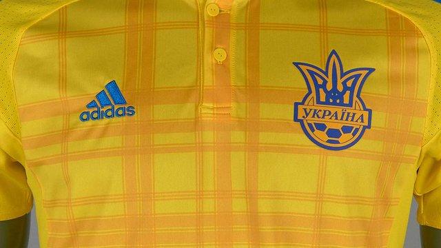 Adidas виготовила для українських футболістів форму із картатим візерунком