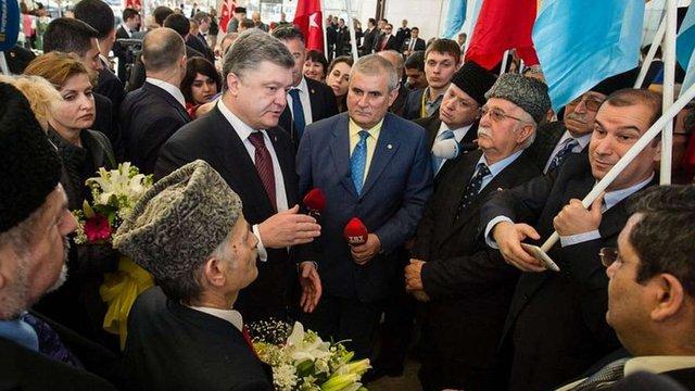 Порошенко закликав турецький парламент визнати депортацію кримських татар геноцидом