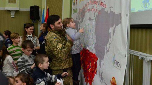 Діти учасників АТО встановили у Львові рекорд України