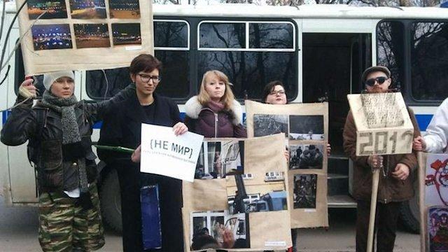 У Москві затримали художників  по дорозі на антивоєнну виставку