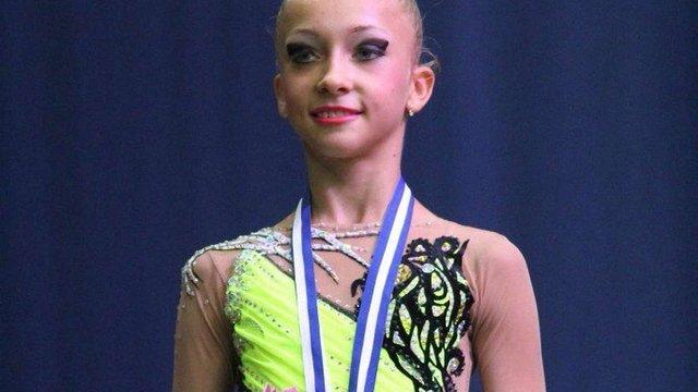 Юна львівська гімнастка продемонструвала найкращий результат на турнірі у Греції