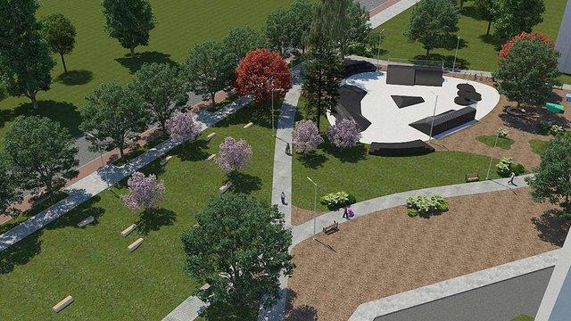 На Левандівці облаштують новий сквер зі скейт-парком