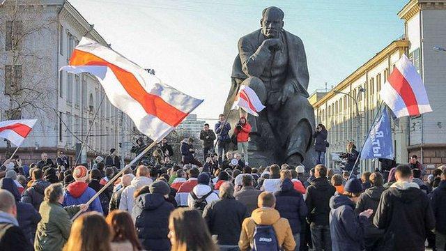 У Мінську відбулася масштабна хода проти влади Лукашенка
