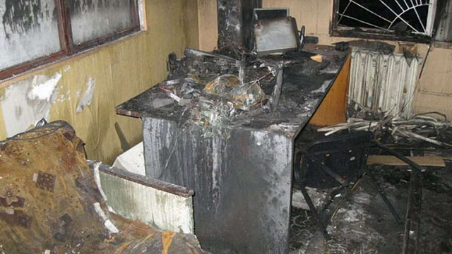 У Конотопі невідомі спалили місцеву студію телебачення