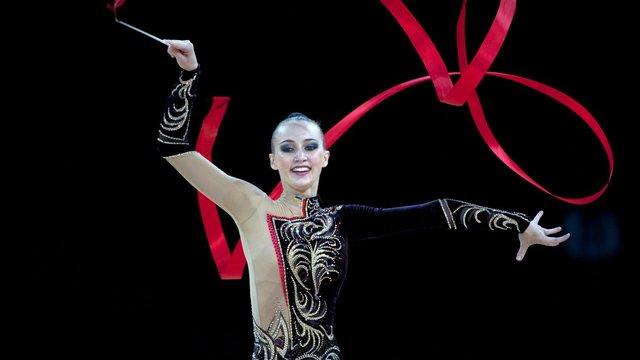 Українська гімнастка зібрала повний комплект нагород на етапі Кубка світу в Італії