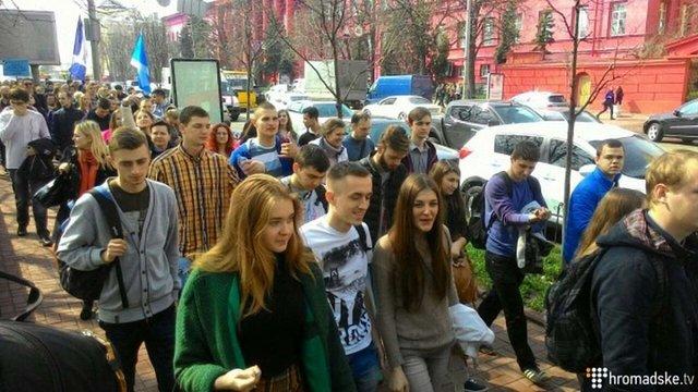 У Києві відбулася акція протесту студентських та освітянських профспілок