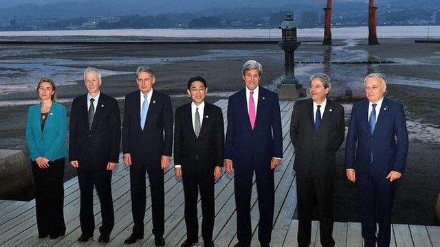 Міністри закордонних справ країн G7 закликали дотримуватися мінських домовленостей