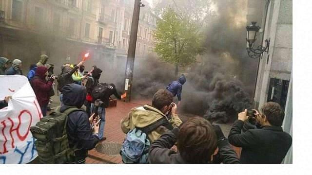В Києві закидали димовими шашками будівлю Росспівробітництва