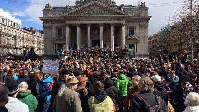 У Брюсселі проводять марш проти тероризму
