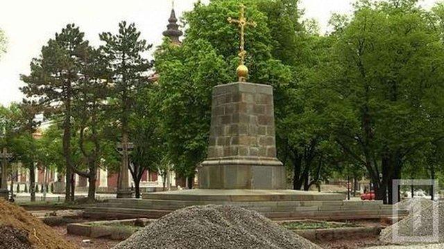 У Кривому Розі на місці поваленого пам'ятника Леніну виявили фундамент церкви