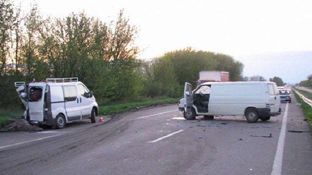 На трасі Київ-Чоп через лося загинув водій мікроавтобуса
