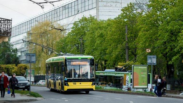 У Львові зупинились п'ять тролейбусних маршрутів