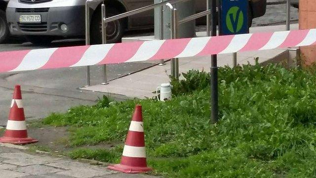 Підозрілий предмет біля СБУ у Львові виявився звичайним термосом