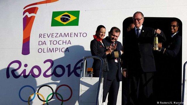 Олімпійський вогонь прибув до Бразилії