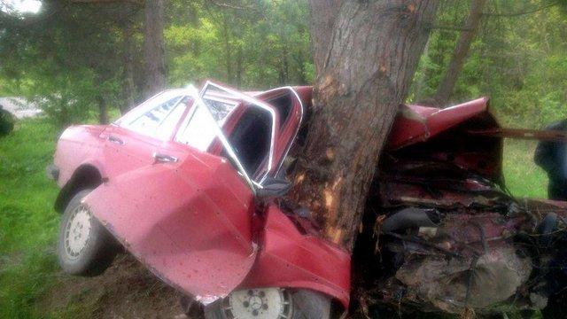 У Бірках львів'янин вщент розбив автомобіль об дерево
