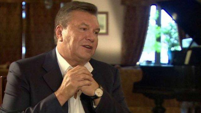 Янукович передав до суду пояснення про вбивства на Євромайдані