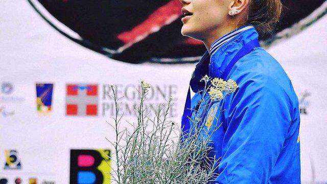 Львів'янка виграла золото на чемпіонаті Європи з фехтування на візках в Італії