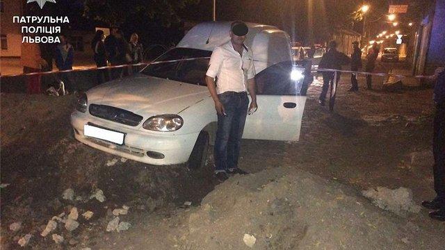 П'яний водій у Львові в'їхав у місце проведення ремонтних робіт