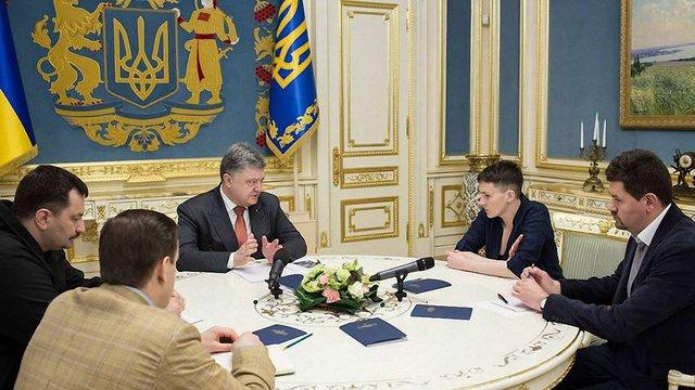 Порошенко запропонував Савченко займатися звільненням полонених за кордоном