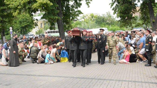 У Києві попрощалися з комбатом із 72-ї бригади ЗСУ Андрієм Жуком