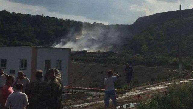 У Грибовичах заблокували курсантів, які приїхали на порятунок пожежників