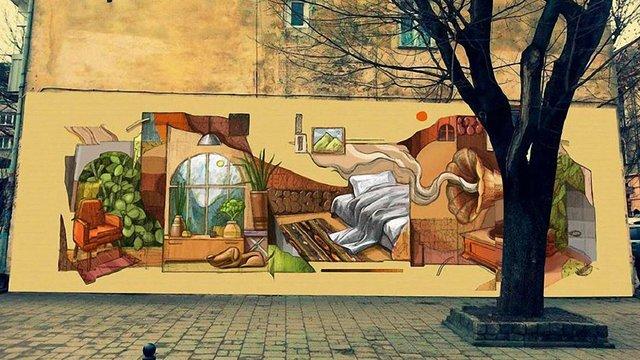 На стіні біля зупинки «Русалка Дністрова» створять нове графіті