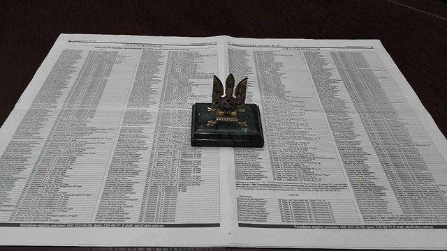 ГПУ оприлюднила повістки 727 суддям, прокурорам та депутатам, підозрюваним у державній зраді