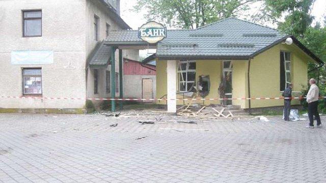Вночі на Львівщині підірвали відділення «Ощадбанку»