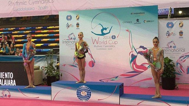 13-річна львів'янка перемогла на етапі Кубка світу з художньої гімнастики
